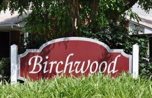 Raleigh Housing Authority - photo of Birchwood sign