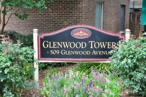 Raleigh Housing Authority - Photo of Glenwood Towers signage
