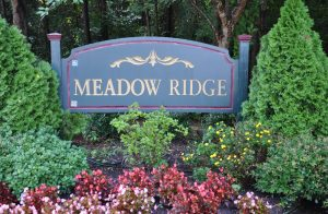 Raleigh Housing Authority - photo of Meadow Ridge sign