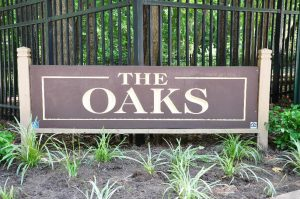Raleigh Housing Authority - photo of the Oaks Community sign