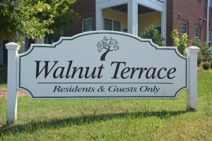 Raleigh Housing Authority - photo of Walnut Terrance sign